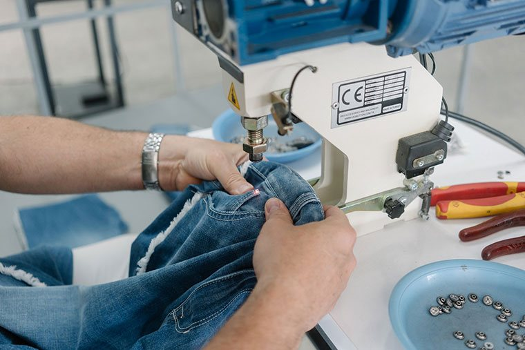 the products undergo ironing and thorough inspection, before being prepared for shipping